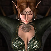 Hot elf with beautiful breast fucked