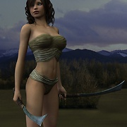 Sexiest warrior girls posing with swords