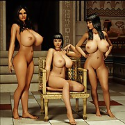 Fantastic busty babes in fantasy sex world